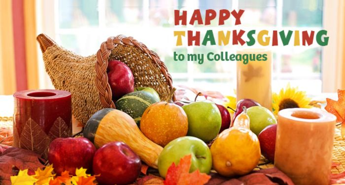 happy thanksgiving to colleagues
