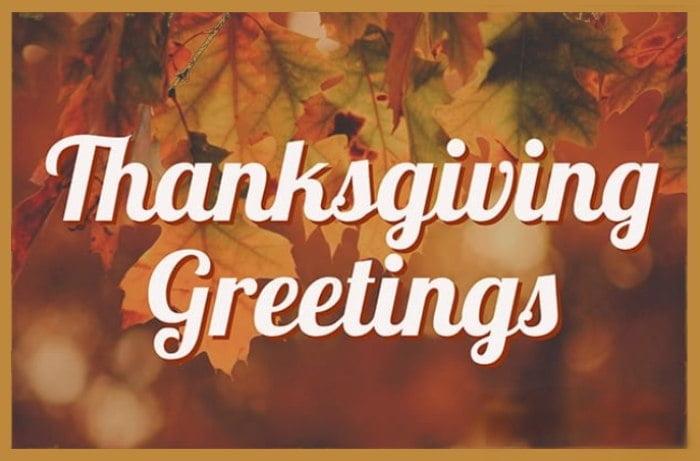 Thanksgiving- Greetings