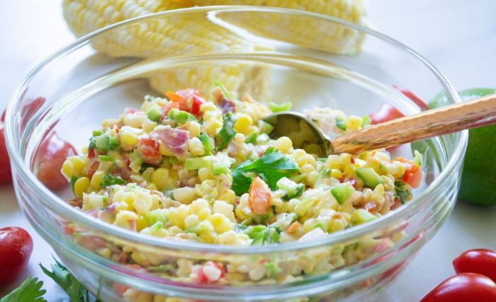 Corn Salad with Bacon and Honey- easy thanksgiving side dishes