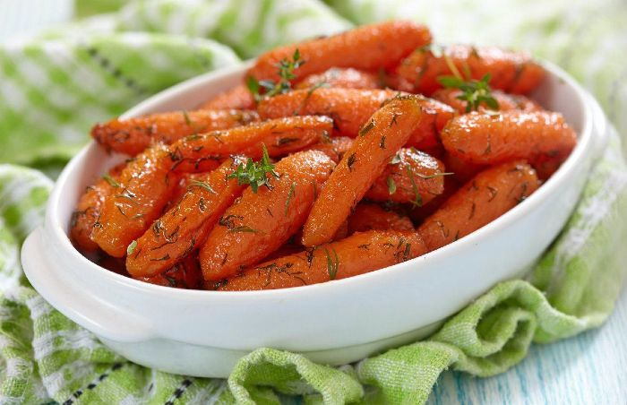 Lemon and Tangerine Glazed Carrots - best thanksgiving side dishes