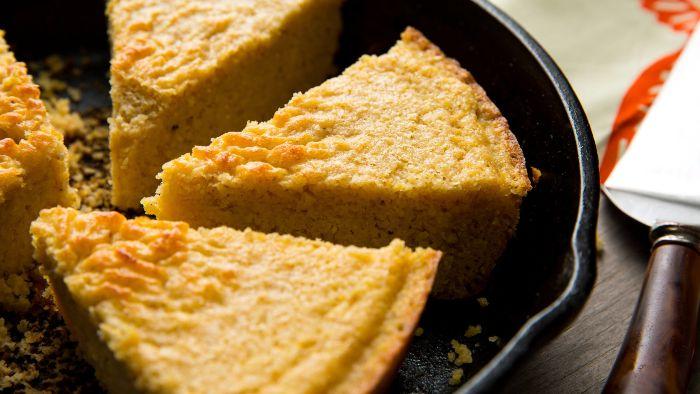 Skillet Cornbread with Honey Butter - Vegan thanksgiving side dishes