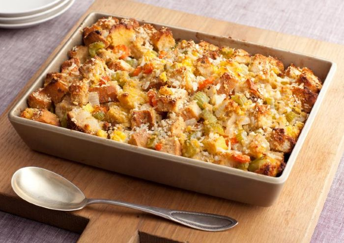 Three-Bread Stuffing - thanksgiving vegan recipes