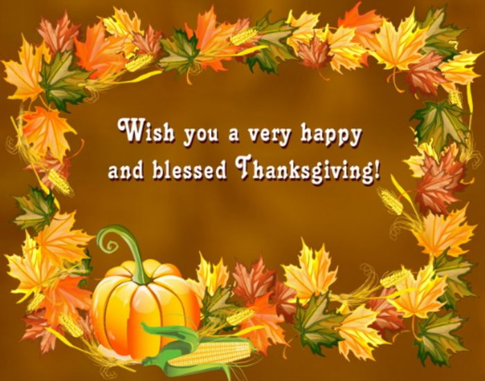 happy and blessed thanksgiving wishes