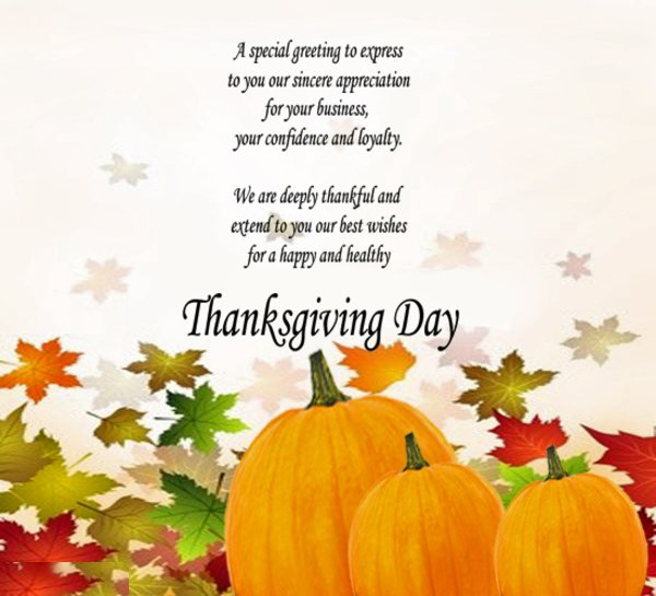 A special express to express to you sincere - thanksgiving day