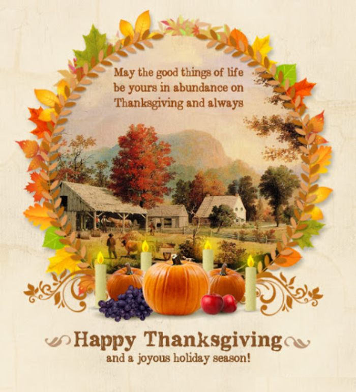 Thanksgiving messages to friends and family