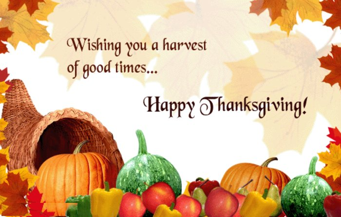 Wishing you a harvest of good times. - happy thanksgiving!