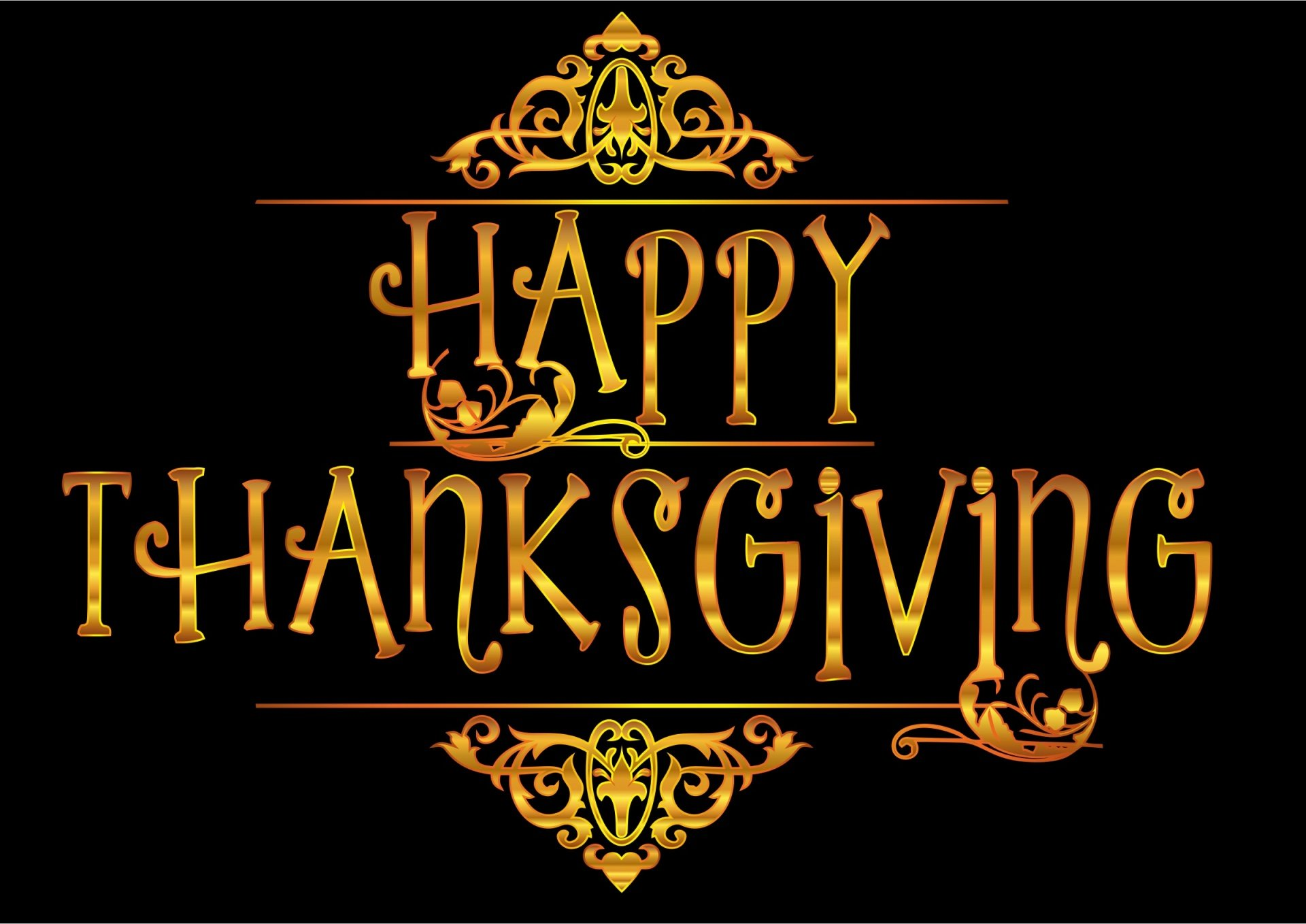 happy-thanksgiving-black-background-graphic image