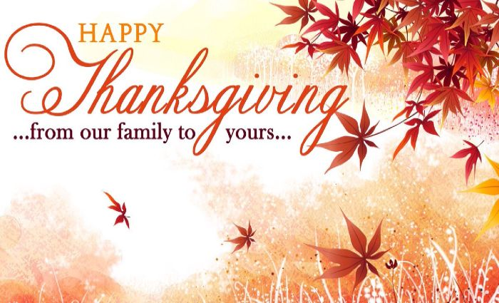 have a happy thanksgiving